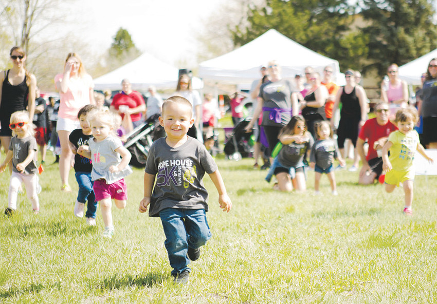 The Diaper Dash is a big hit with the little ones at the annual Hope House 5K & Fun Run.