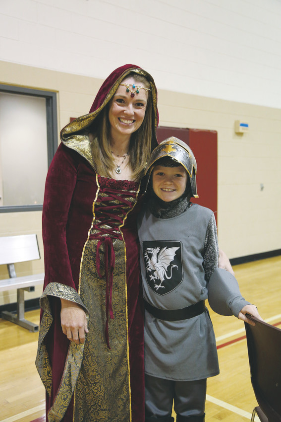 Maegen Tracy poses with her son, Sean, at the Mom and Son Date Knight at the Arvada YMCA May 18.