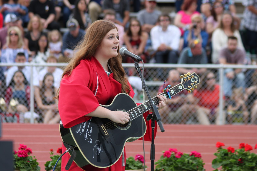 "Alissa Lombardi closed the Heritage High School 2018 graduation ceremony with a heartfelt rendition of ""Nobody Knows"" by the Lumineers."
