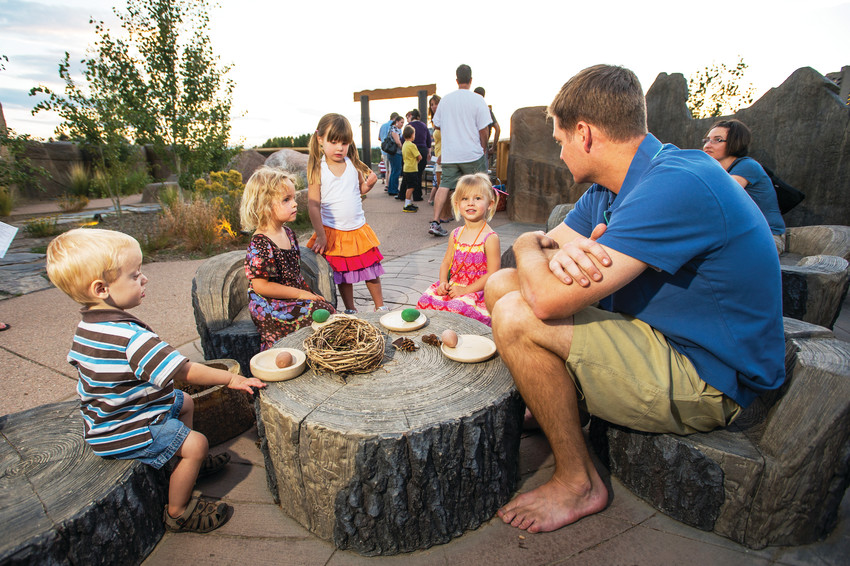 Every summer the Botanic Gardens hosts several family fun night events, allowing families to explore the Mordecai Children's Garden.