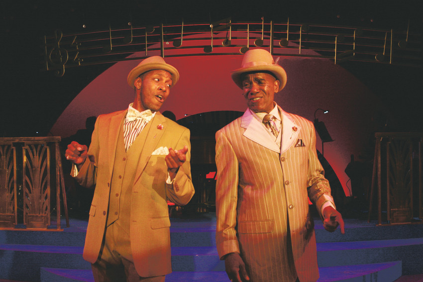 "Actors/singers Randy Chalmers and Leonard Barrett are in the cast of Town Hall's production of ""Ain't Misbehavin',"" with music by jazz pianist Fats Waller."