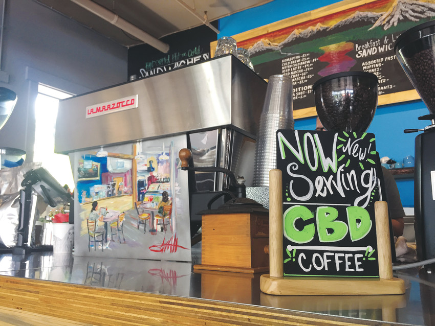 Hunter Bay Coffee Roasters in Olde Town Arvada started serving CDB coffee May 24.