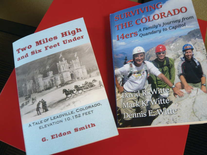 """Two Miles High and  Six Feet Under"" by G. Eldon Smith,  and ""Surviving the Colorado 14ers"" by Denny,  Mark and David Witte."