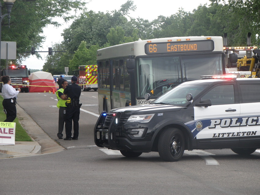 A man was pronounced dead after reportedly crawling under a bus at the north end of the Littleton Downtown Light Rail Station and dragged for several blocks to the intersection of West Littleton Boulevard and South Windermere Street about 3 p.m. on June 7, police said.