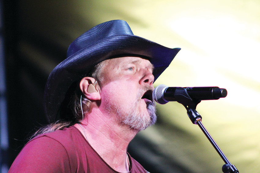 Trace Adkins sings on the main stage during the first day of the 2018 Parker Days Festival. Adkins was the headliner and the biggest name to preform at the four-day event.