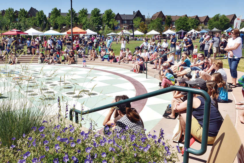 Attendees of KidFest gather to watch a performance by the Claim Jumpers jump roping team June 9. Approximately 1,500 people attended the free Highlands Ranch Metro District event, which featured performances, contests, activities, vendors and more.