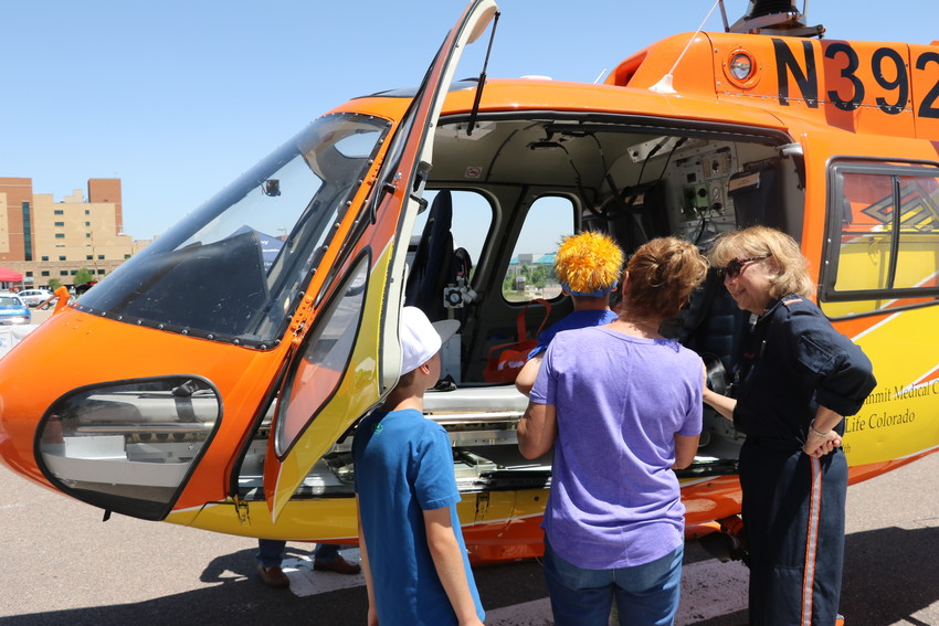 On Saturday, June 9, St. Anthony Hospital marked its 125th anniversary with a community celebration on site. The event featured wild west games, live music, food trucks. and more. Visitors also had the opportunity to see one of the Flight for Life helicopters up close.