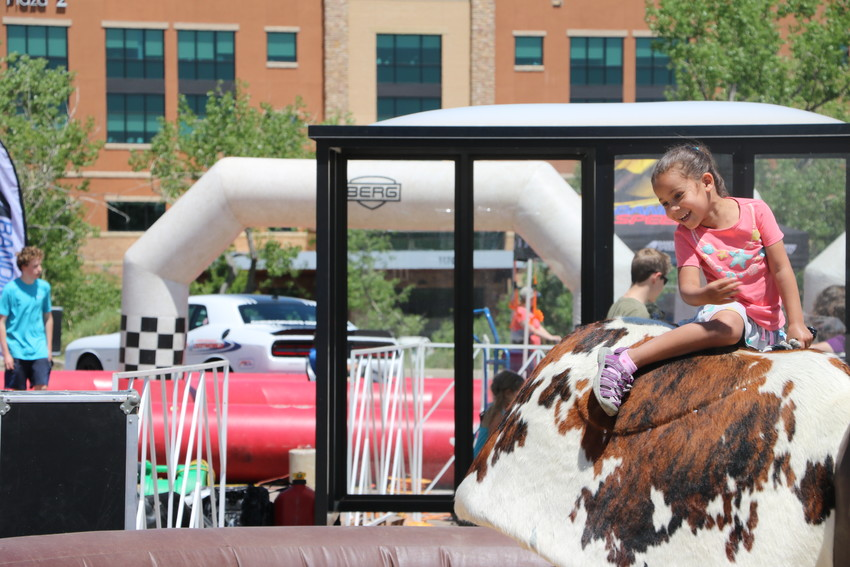 St. Anthony Hospital celebrated 125 years of healing on June 9 with a community celebration for staff, friends and families, and the community in their parking lot. Children were able to try their skill at bull riding, rope tricks, and more.
