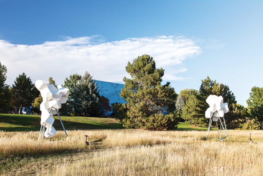The sculpture field at the Arvada Center for Arts and Humanities is one of the most prominent displays of public art in Arvada.