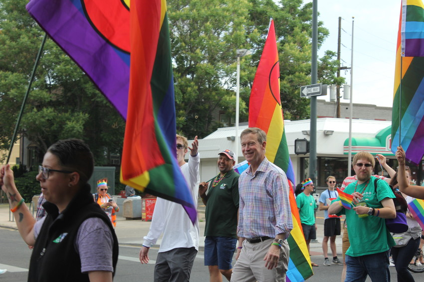 Colorado Governor John Hickenlooper joined in on the Pride Parade on Colfax Avenue on June 17.