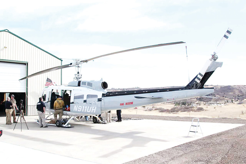 Rampart Helicopter Services runs a heliport from its location on unincorporated land near Castle Rock and is under review for a zoning violation that could mean they can no longer operate the heliport at their current location.