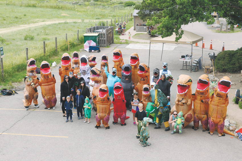 The attendees at Dinosaur Ridge's Guinness World Record attempt on June 16. While the about 41 attendees didn't hit the minimum 250 mark set by Guinness, organizers are already looking at trying again next year.