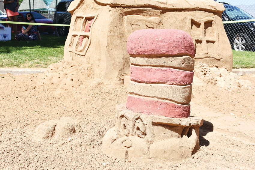 Remax's sand sculpture had a Cat In the Hat theme, complete with colored sand.
