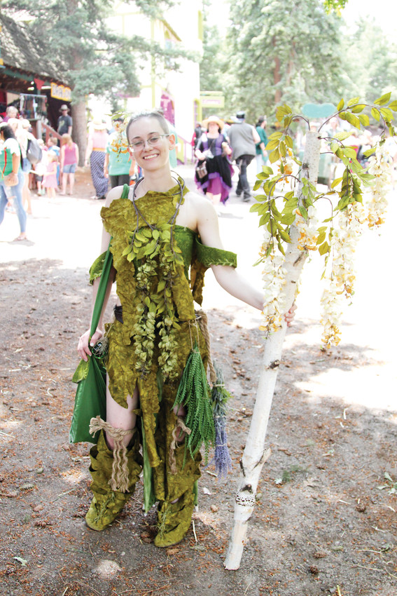 Many people who attend the Renaissance Festival arrive in costume, blending in with the members on staff.
