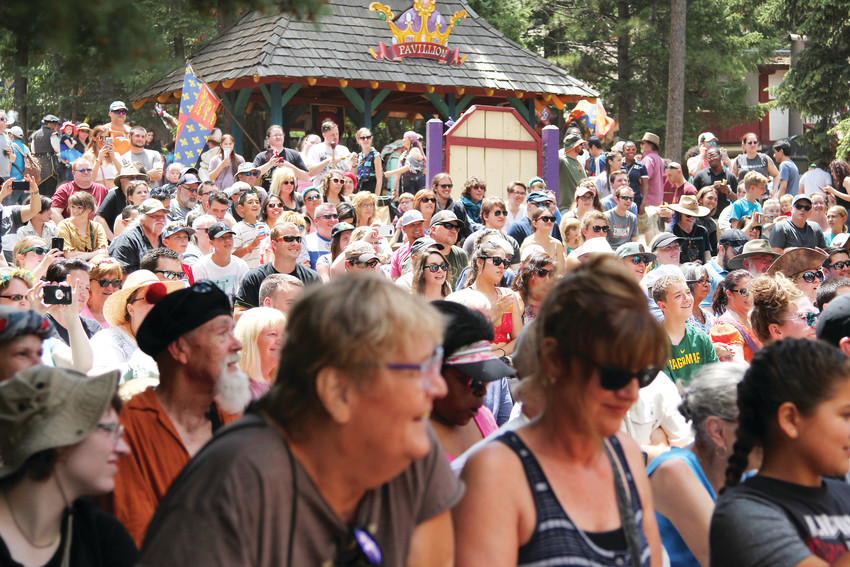 Shows and various acts entertain crowds throughout the day at the Renaissance Festival.