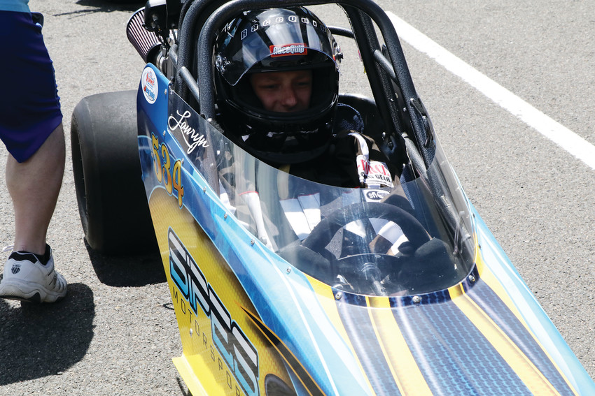 Dillon Sipes drove his sister's car in the June 23 session of the Division 5 Junior Dragster Championship races at Bandimere Speedway. The Green Mountain resident was among more than 100 young drivers competing in the races for the division championship trophies.