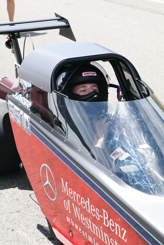 Jagr Anderson sits in his car awaiting his turn at the starting line during the June 23 session of the Division 5 Junior Dragster Championship races at Bandimere Speedway. The Westminster resident was among the 122 drivers from Colorado and surrounding states competing in the races.