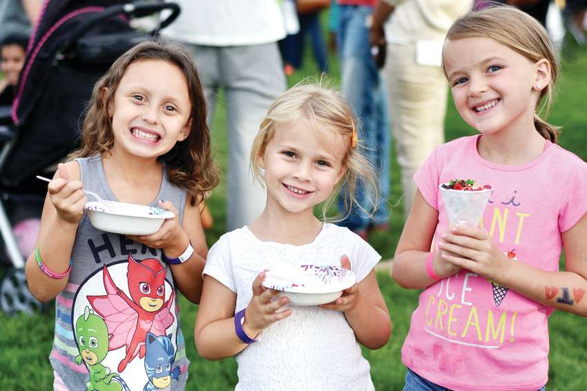 Kids enjoy all-you-can-eat treats at the Highlands Ranch Metro District's Ice Cream Social. This year, the event falls on July 11.