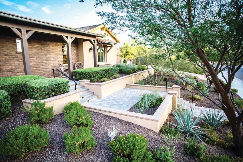 Pioneer Landscape Centers is a one-stop-shop for landscaping needs. Above is the front yard of a homeowner the corporation has served.
