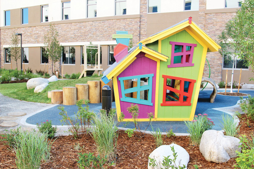 The Healing Garden provides a space for children to play and relax.