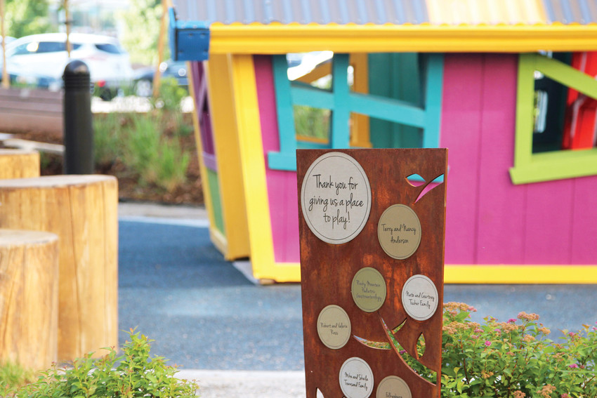 Donors to the Healing Garden are recognized through plaques around the grounds.