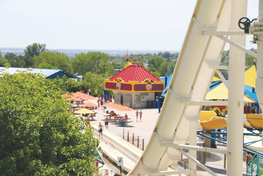 One of the many great views visitors find at Water World, which is the state's biggest and most popular water park.