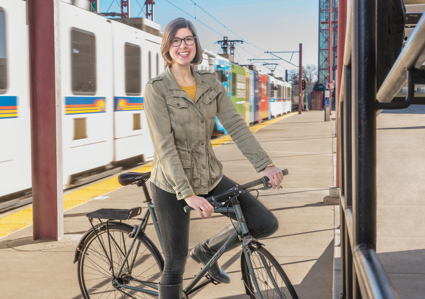"Geneva Hooten, who does not own a car, works with CDOT on bike transportation. ""(I can) be another voice of someone who says 'Maybe we should think about something other than cars,'"" she said. Courtesy Photo."