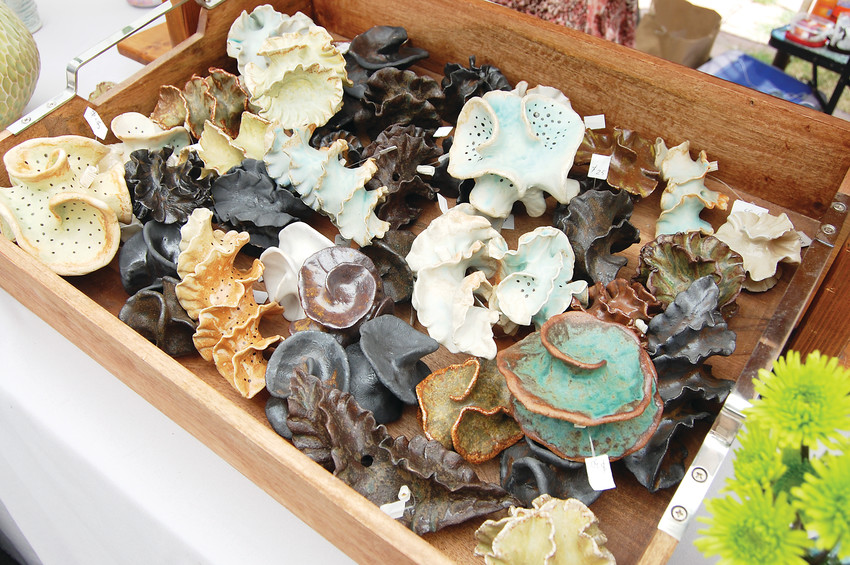 Handmade ceramic seashells created by Wiladine Eggerman.