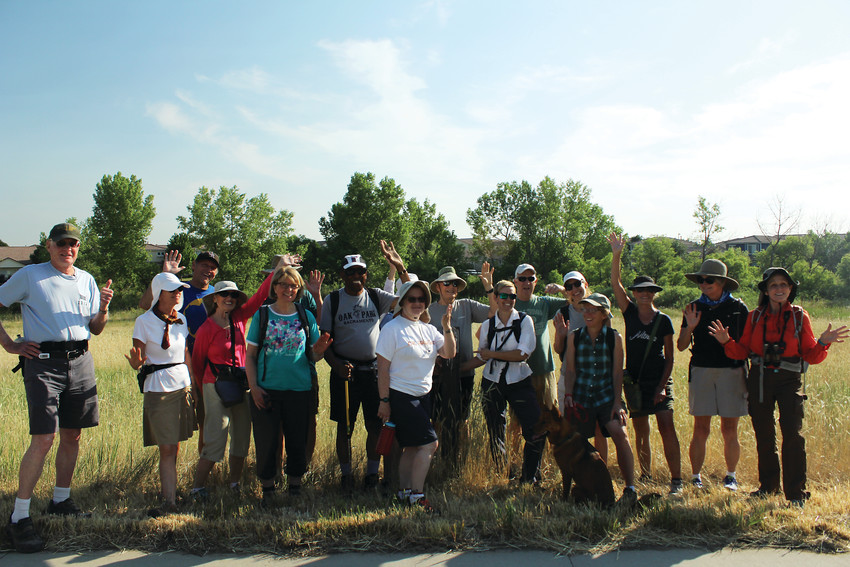 This group of volunteers from the South Pearl-based conservancy, is walking the entire 71-mile trail of the High Line Canal. The group goes in six-mile bursts with Walk2Connect. Once finished they will get a brass token.