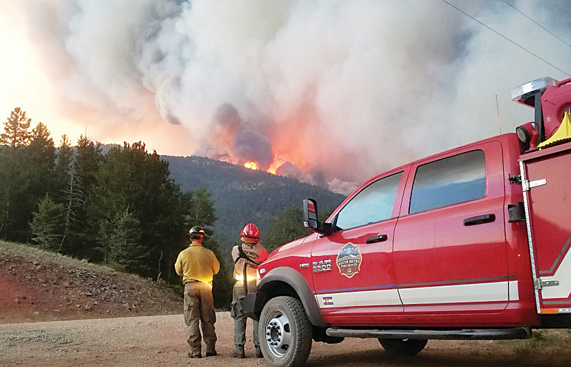 South Metro Fire Rescue personnel have been helping battle the Spring Fire in southern Colorado, including working past sunset on the Fourth of July to provide structure protection.