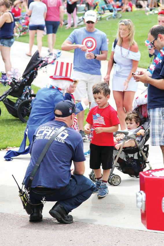 The Castle Rock Fire Department gave youngsters an up-close look at fire trucks and ambulances July 4.