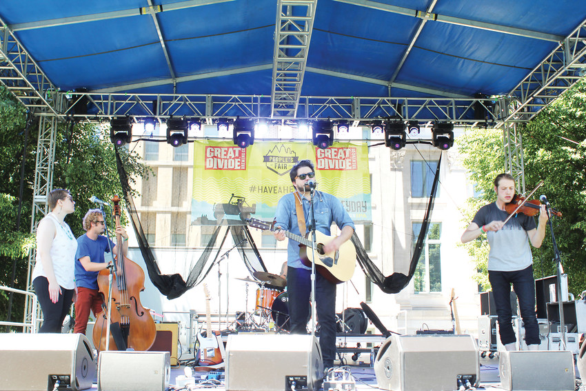 Matt Rouch & the Noise Upstairs played on the Main Stage at Civic Center Park on June 2 during the People's Fair.