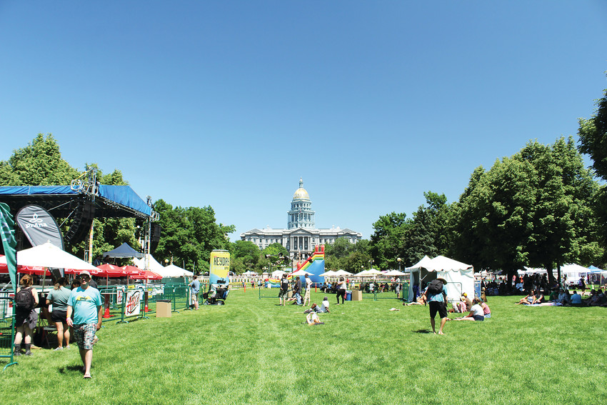 The 47th annual People's Fair was held downtown at Civic Center Park. It is the longest running festival in the city of Denver.