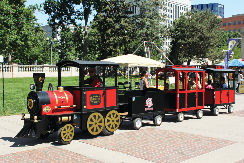 Rides were available for kids at the People's Fair downtown over the weekend of June 1.