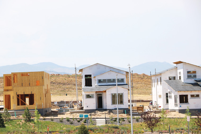 Sterling Ranch, a master-planned community in northwest Douglas County, is a mix of finished and unfinished homes. The development hit the 100 resident mark this summer.