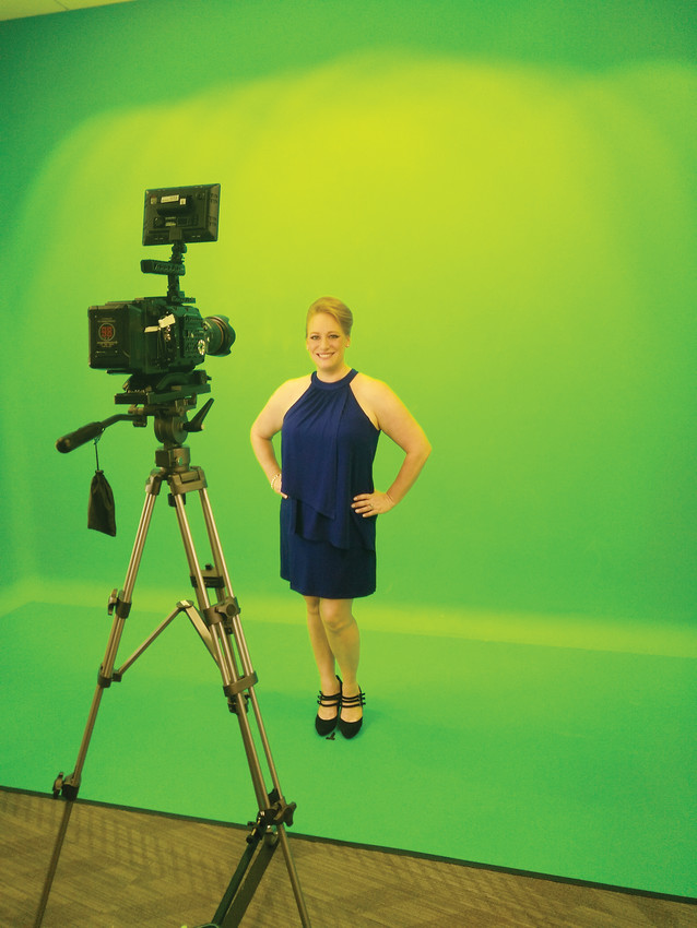 "Parker resident Michelle Ullman films the introduction for her new television series, ""On the Menu with Michelle Ullman."" All 10 episodes of the show's first season were filmed in the metro area."