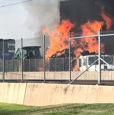 A truck fire on southbound Interstate 25 near East Dry Creek Road, July 10.