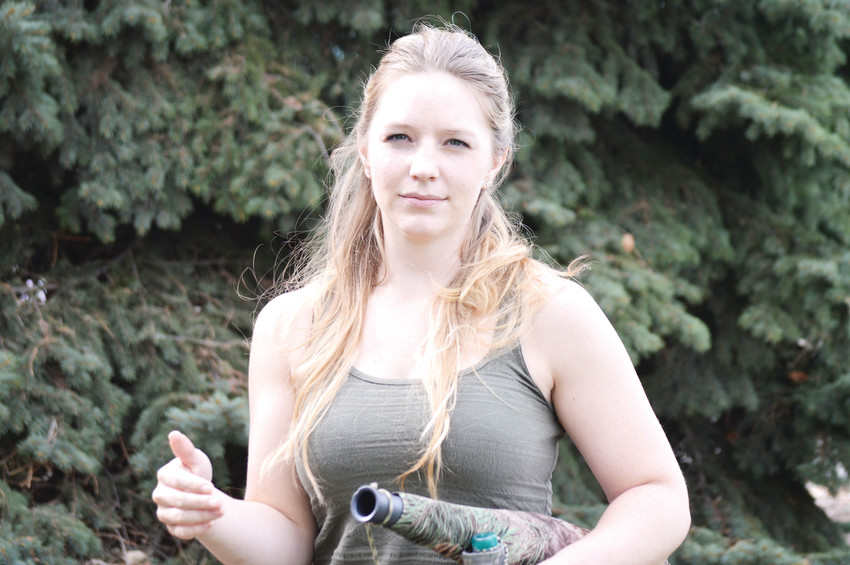 Hannah Holiday of Northglenn is the world elk calling voice champion for the second year running.