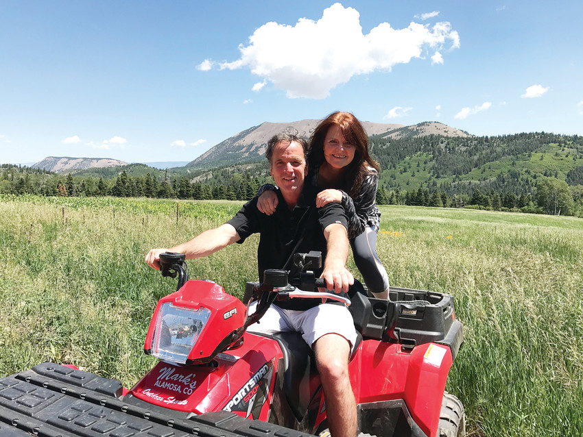 Jim and Kim Libeatore pictured near their Paradise Acres cabin, where they enjoyed nature and riding ATVs.