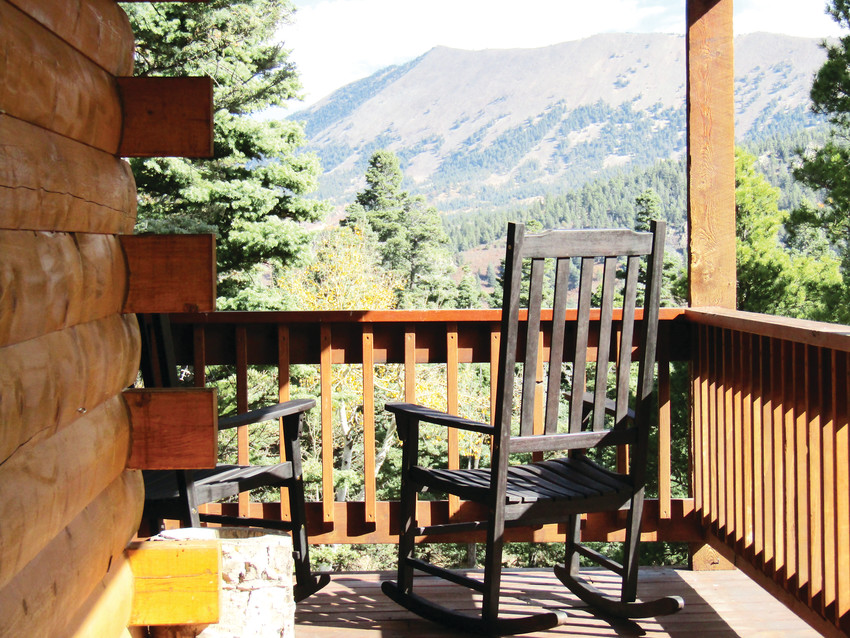 Views from Jim and Kim Liberatore's cabin included mountains, wildlife and open space.