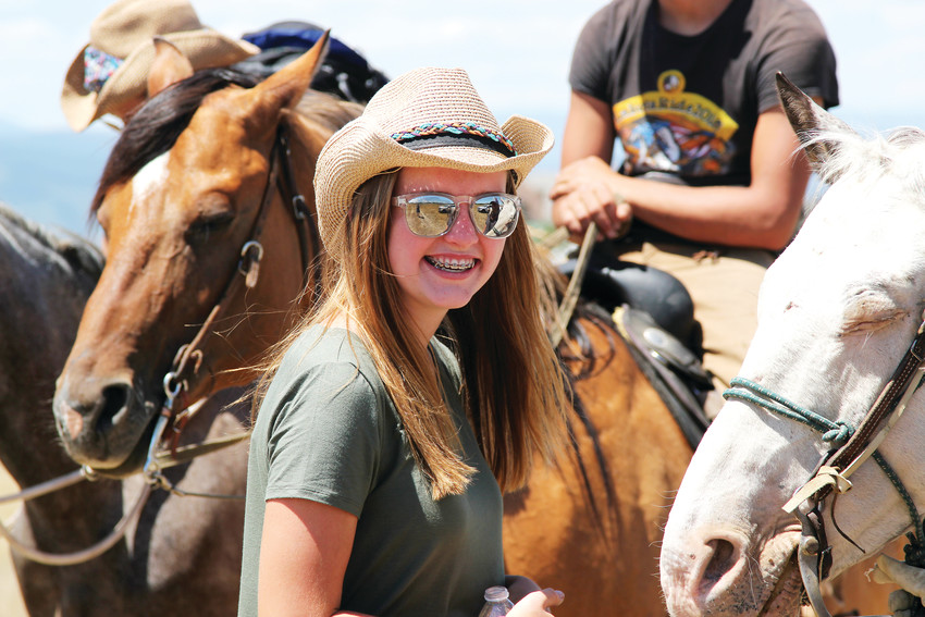 Tessa Brown, 13, will participate in the Lakota ride after learning about Pine Ridge and the Belt family through a school project, where she helped work on the Belt family's home.