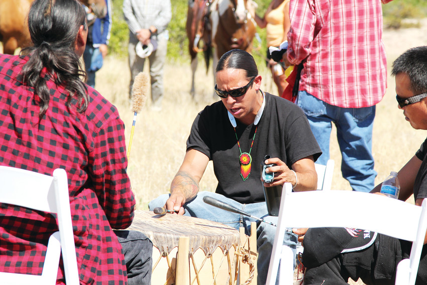 As part of the opening ceremony, members of the Lakota tribe sang, drummed and led the crowd in prayer.