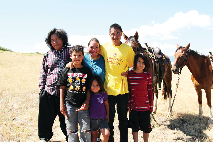 Some proceeds from the Lakota ride will help complete the construction of a home for the Belt family, who currently live in a camper on the Pine Ridge Indian Reservation in South Dakota.