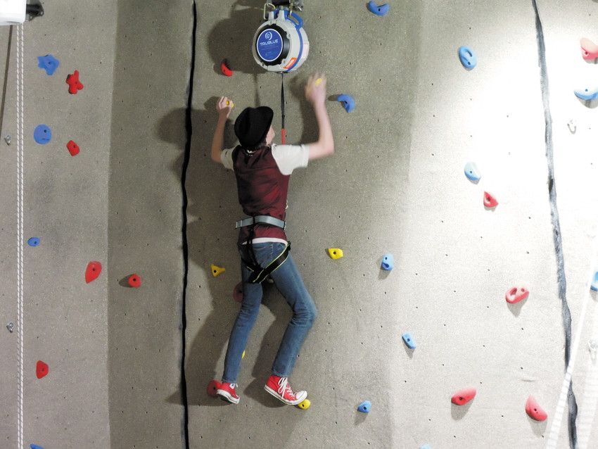 One of the features of the newly renamed Colorado Adventure Point is a two-story climbing wall.