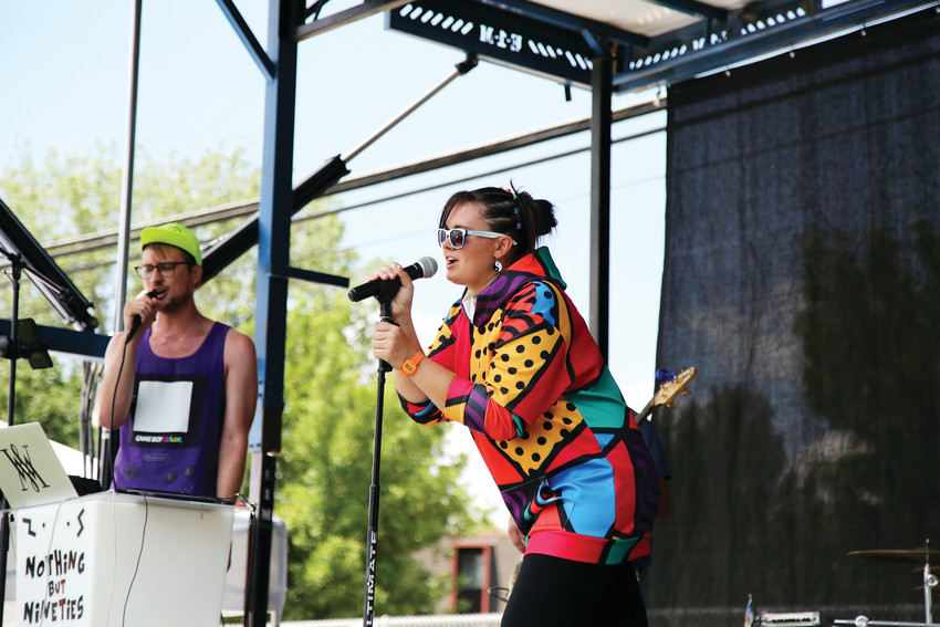 Nothing But Nineties, a 1990s era cover band, brought nostalgic tunes to Arvada on Tap.