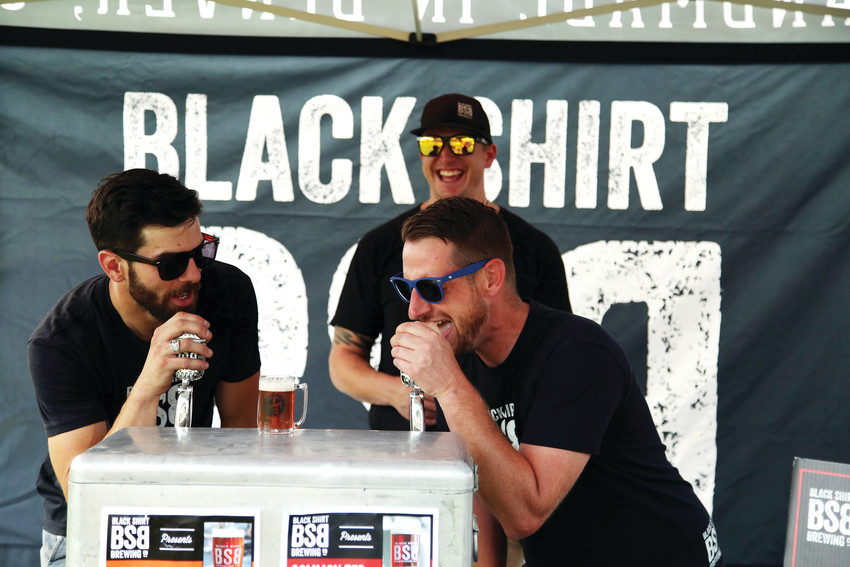 Patrick Coleman and Adam Lee, of Blackshirt Brewing, turn their beer taps into mics to belt out some '90s lyrics.