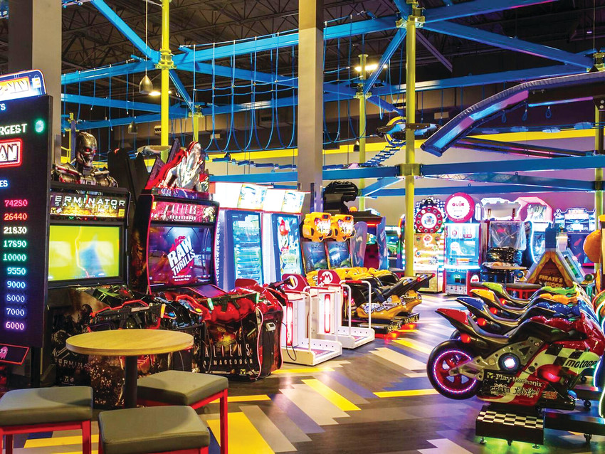 "Set to open later this year, Main Event Entertainment will have a colorful arcade theater with more than 130 games. ""It's almost Vegas-like,"" said Corey Will, director of marketing."