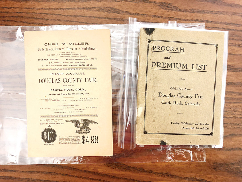 "Before 1918, there was more than one ""first annual"" Douglas County Fair, as shown here in early fair programs. The event was not held consecutively until 1918."