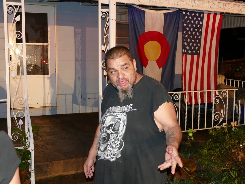 "Angelo Maldonado, 41, describes Tuesday night's torrent of water that flooded Acoma Street in front of his home in the 4600 block, between Tufts and Union avenues, and the basement unit of the home where he has lived for three years. ""It's the first time I've ever seen anything like this,"" he said. Maldonado and his brother, Isaac, live in the first-floor unit. Their unit had little water — they stuffed towels at the bottom of the door jamb to keep water from seeping in. But the basement unit, where water reached the ceiling, was severely damaged, they said."
