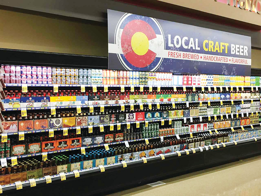 At a Safeway in Littleton, full-strength beer and liquor is being sold following SB-197. The law allows a maximum of five liquor licenses to store chains in Colorado, under certain parameters.